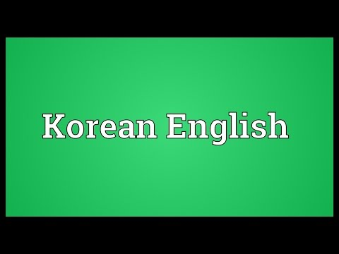 Korean English Meaning
