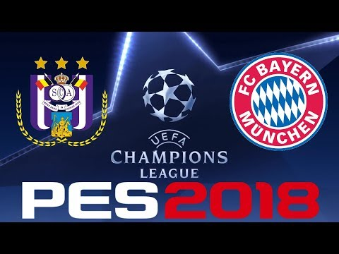 PES 2018 - UEFA CHAMPIONS LEAGUE - ANDERLECHT vs BAYERN MUNICH