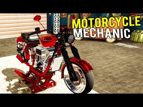 OWNING OUR OWN MOTORCYCLE MECHANIC AND BUILDING SHOP! - Motorbike Garage Mechanic Simulator