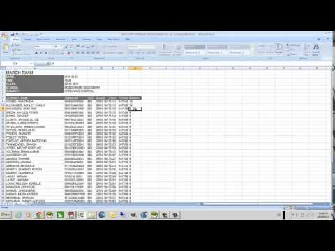 Assessment Marks Data Entry Using Excel - Youtube
