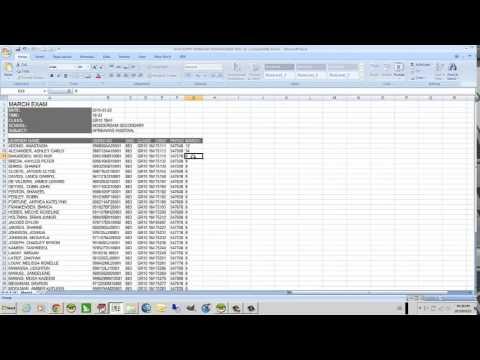 Assessment Marks Data Entry Using Excel - Youtube