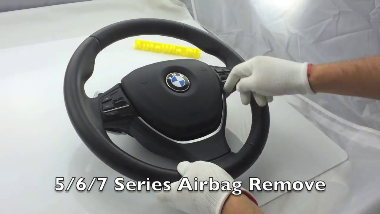 Bmw Airbag Removal Taking Off 5 6 7 Series F10 F12 F13 F06 F01 Models Youtube