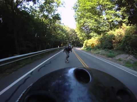 High Speed Longboarding On Holmes Point