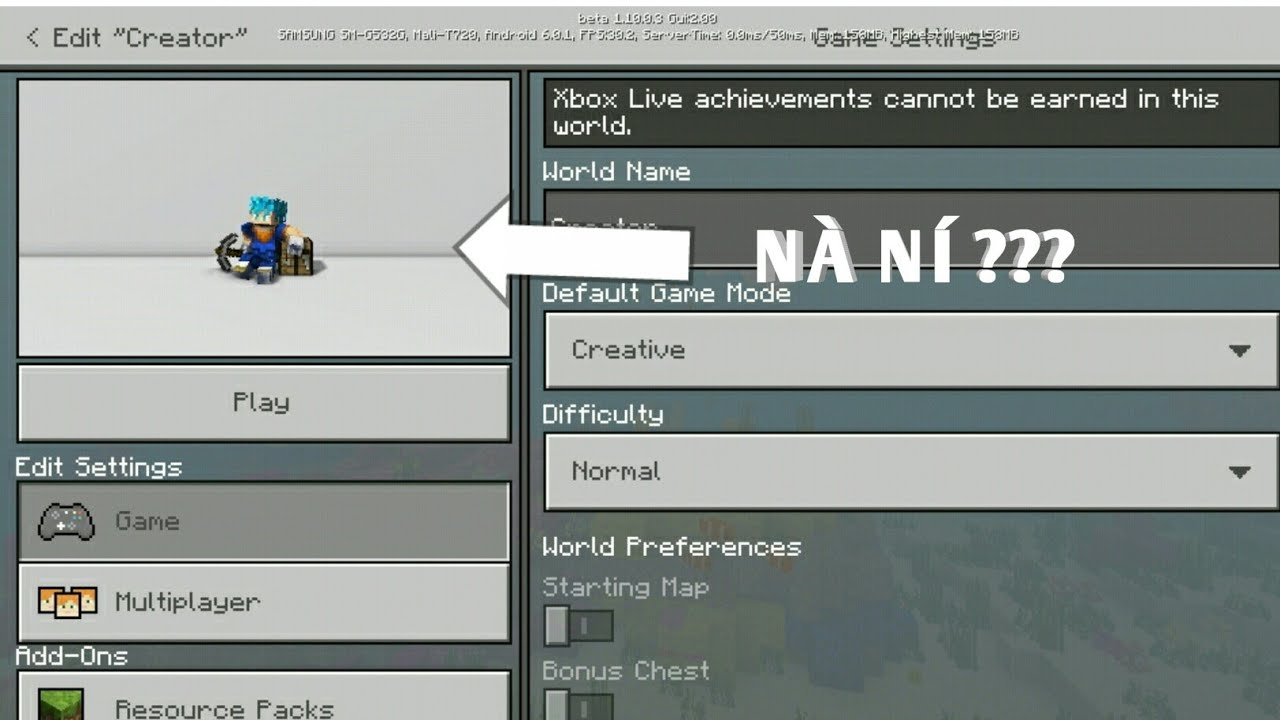 Cách Thay Đổi Hình Nền Map Trong Minecraft BE