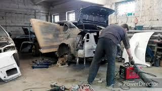 Субару легаси кузовной ремонт и покраска. Subaru Legacy. Body repair