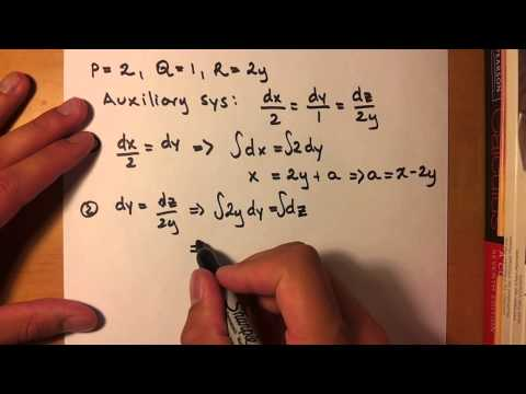 First Order Partial Differential Equation
