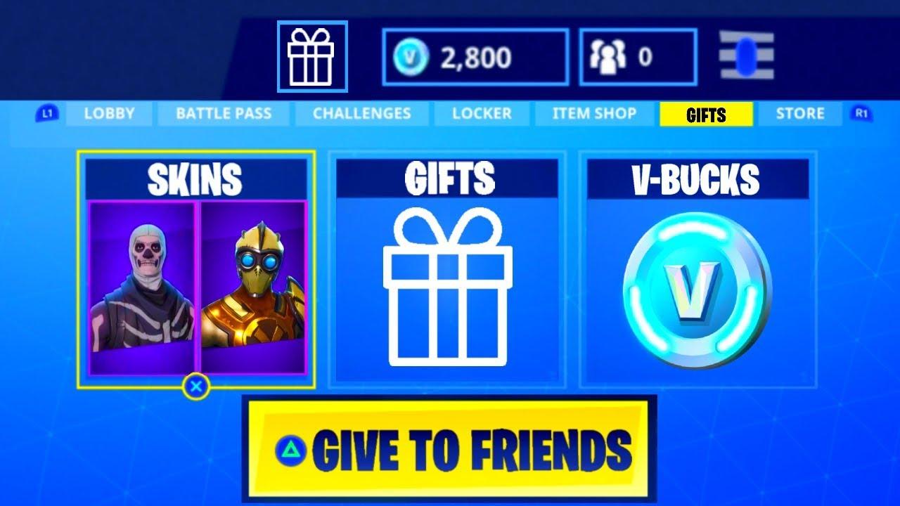 give skins v bucks to friends fortnite battle royale - negozio v bucks fortnite season 9