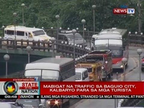 SONA: Biyahe paakyat ng Baguio, pahirapan dahil sa tindi ng traffic