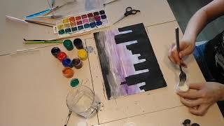 Рисуем дома. #рисунок #учимсярисовать #акварель #творчество