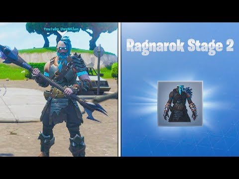 "Level 35 ""RAGNAROK"" STAGE 2 UNLOCKED! Fortnite Battle Pass Tier 100 Skin Upgraded"