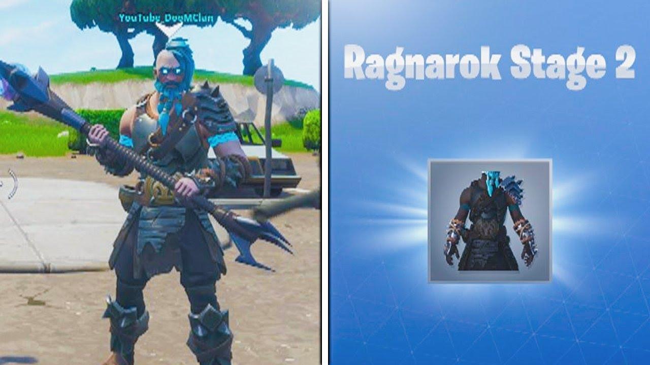 level 35 ragnarok stage 2 unlocked fortnite battle pass tier 100 skin upgraded - fortnite omega alle stufen