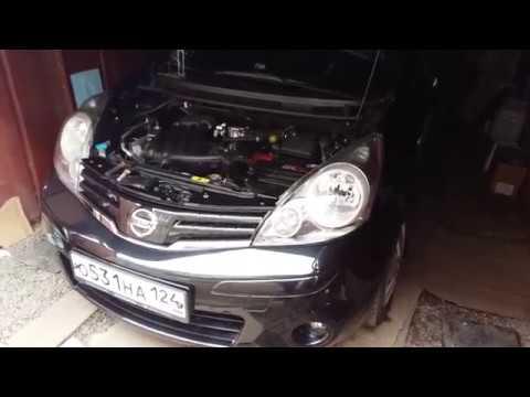 Устранение провисания переднего бампера Nissan note