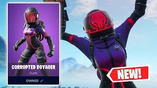 NEW CORRUPTED VOYAGER Skin Gameplay in Fortnite!