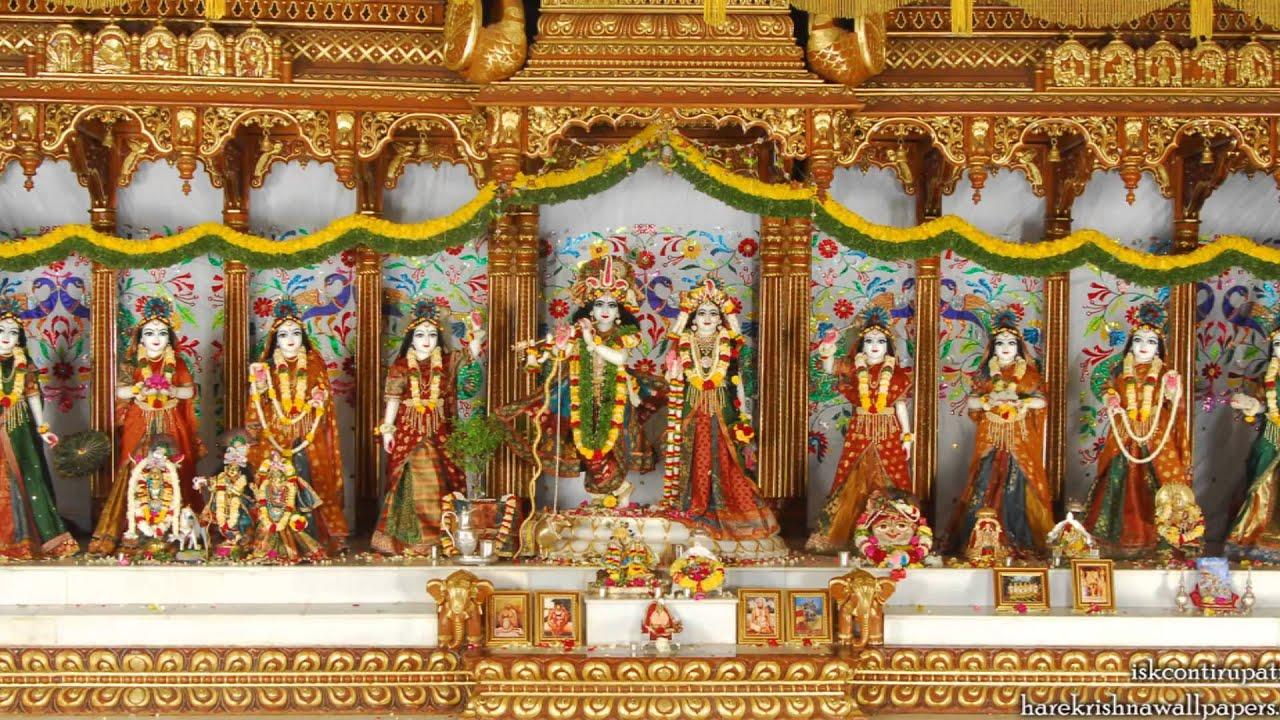 Krishna And Radha Hd Wallpaper Sri Sri Radha Govinda Asta Sakhi Iskcon Tirupati Youtube
