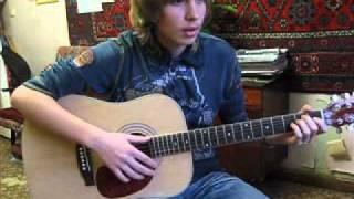 Урок гитары дома у ученика Виктория Юдина