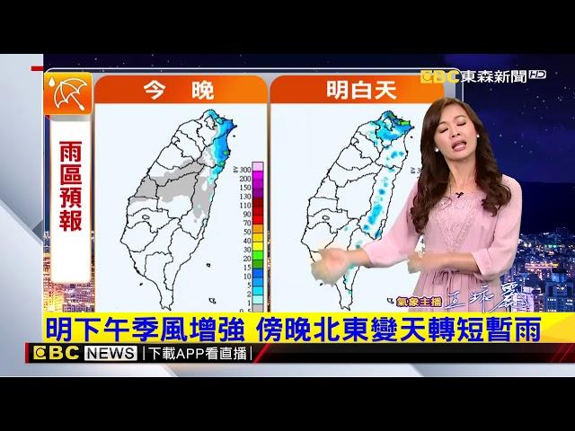 氣象時間 1071210 晚間氣象 東森新聞