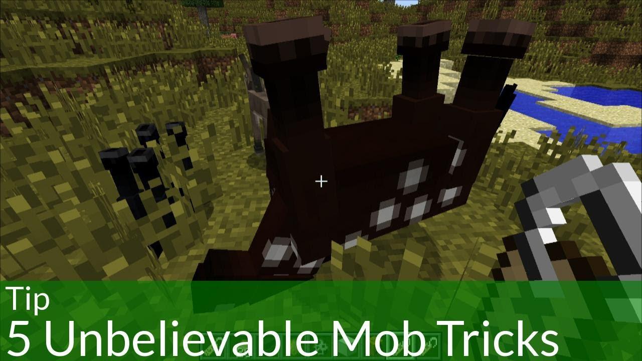Tip 5 Unbelievable Mob Tricks In Minecraft YouTube