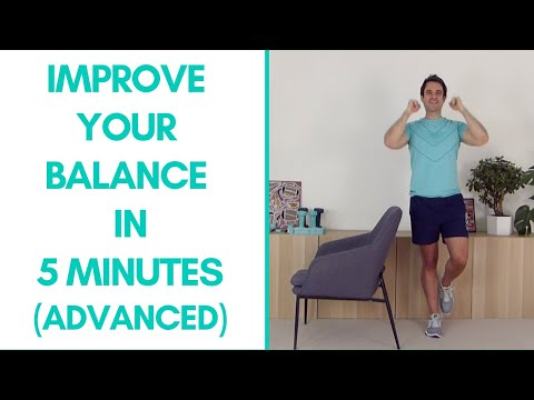 Advanced Balance Exercises For Seniors (Fitter in 5 5-Minutes)