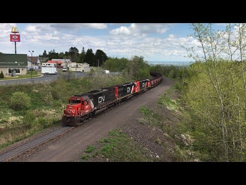 Trains and ships in the Twin Ports (WI/MN) region on Memorial Day Weekend 2017: feat. old locos!