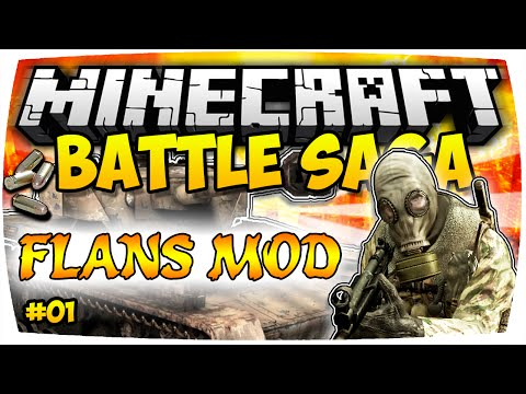 MINECRAFT: WAS FÜR EIN START! • MODDED BATTLE SAGA - FLANS MOD • Part 1! | Nunan » Mods Deutsch
