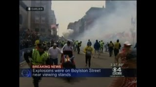 Many wounded in two explosions at Boston marathon
