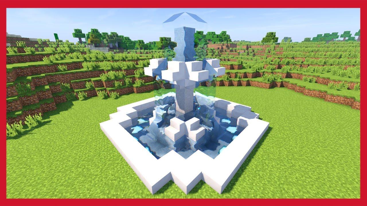 Minecraft Come Fare Una Fontana Youtube