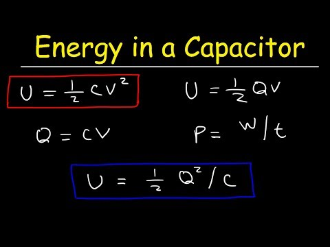 How To Calculate The Energy Stored In a Capacitor