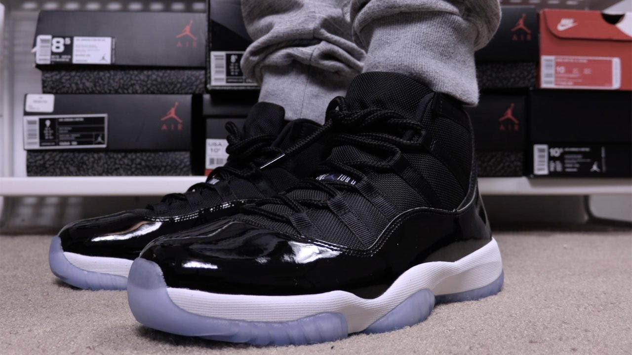 reputable site ea6bf 0c1e3 Air Jordan 11 Space Jam 2016 On Feet