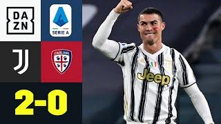 Ronaldo-Doppelpack lässt Juve jubeln: Juventus Turin – Cagliari 2:0 | Serie A | DAZN Highlights