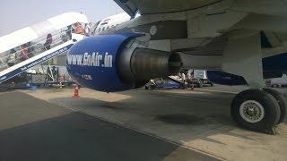 الهبوط في مطار نيو دلهي الدولي Landing in Indira Gandhi International Airport - Go Air