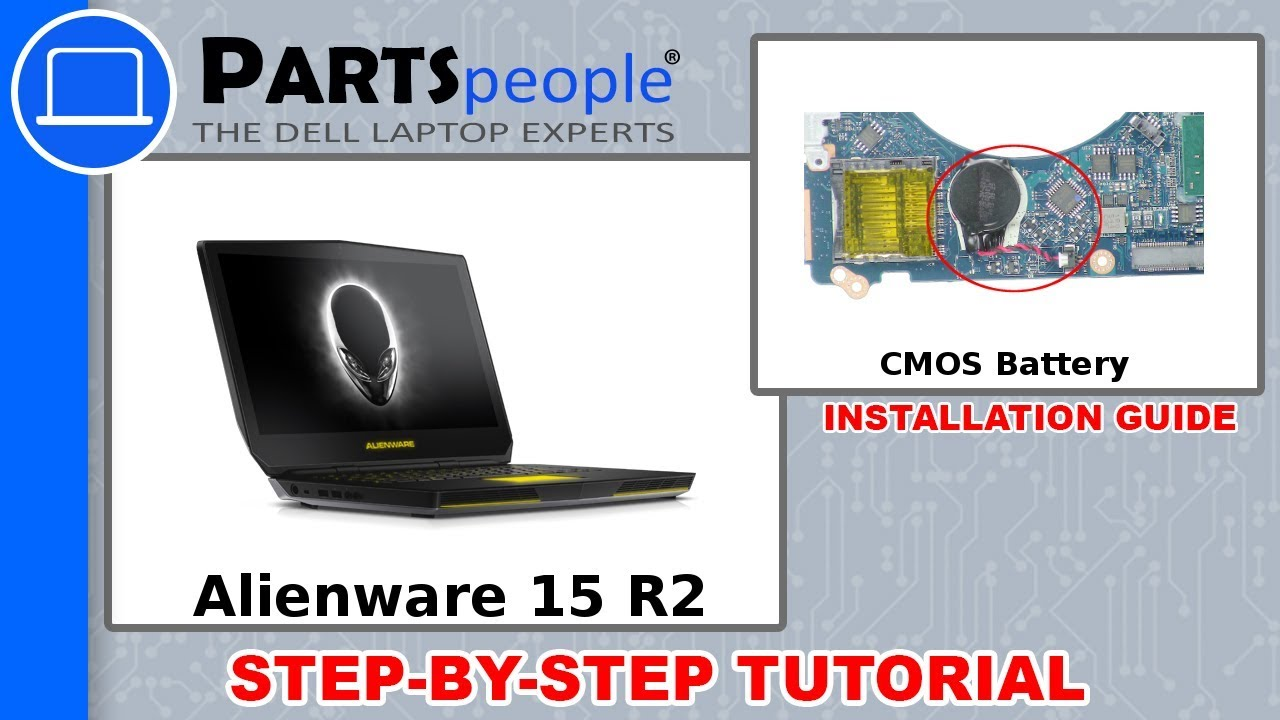 Dell Alienware 15 R2 (P42F002) CMOS Battery How-To Video Tutorial