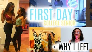 FIRST DAY OF COLLEGE VLOG | Why I Left + Yoins Unboxing Haul! • Lawenwoss