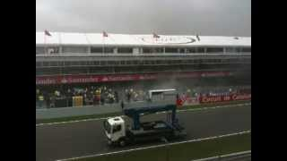 Williams Garage Fire - Spanish F1 GP 13. May 2012