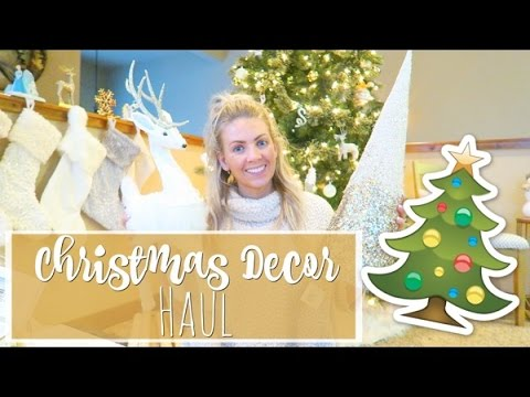 huge christmas decor haul michaels target black friday deals youtube