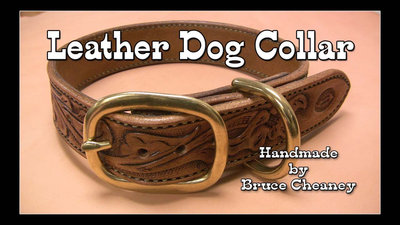 Leather dog collar custom made hand tooled with antique finish leather dog collar custom made hand tooled with antique finish jeuxipadfo Gallery
