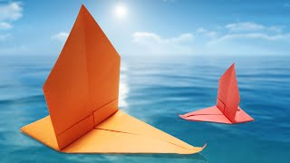 How to make a Paper Sport Boat - Easy Origami - Yacht