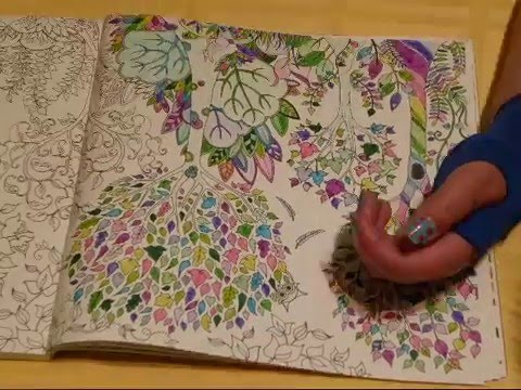 April Adult Coloring Book Timelapse Joanna Basford Enchanted Forest And Inspired Patterns