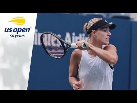 Angelique Kerber Works Hard At 2018 US Open