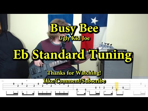Busy Bee Ugly Kid Joe Bass Cover With Tabs Youtube
