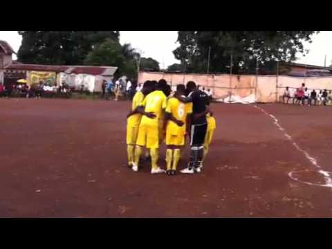 Promoting footballers in Sierra Leone