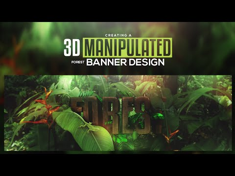 Photoshop/Cinema 4D Tutorial: Creating a 3D Manipulated Bann