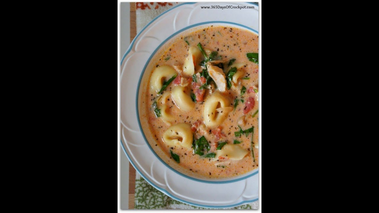 Recipes for the Beginner-Creamy Tortellini SoupYouTube