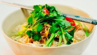 Куай Тиеу. Тайский суп с лапшой и вонтонами