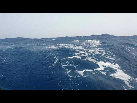 High waves while sailing to Cabo Verde - atlantic ocean