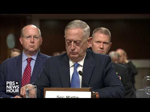 WATCH: Defense Sec. Mattis and Chairman of Joint Chiefs Dunford testify before Congress