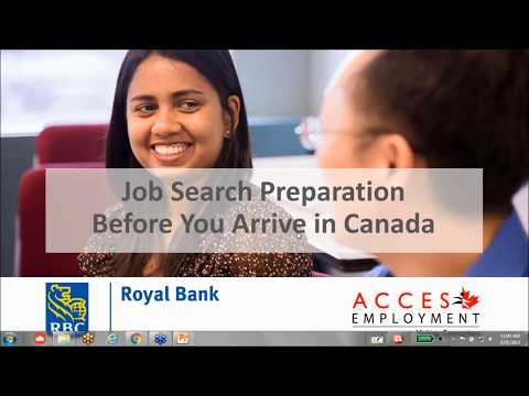 Webinar with RBC Royal Bank: Job Search Preparation Before You Arrive in Canada