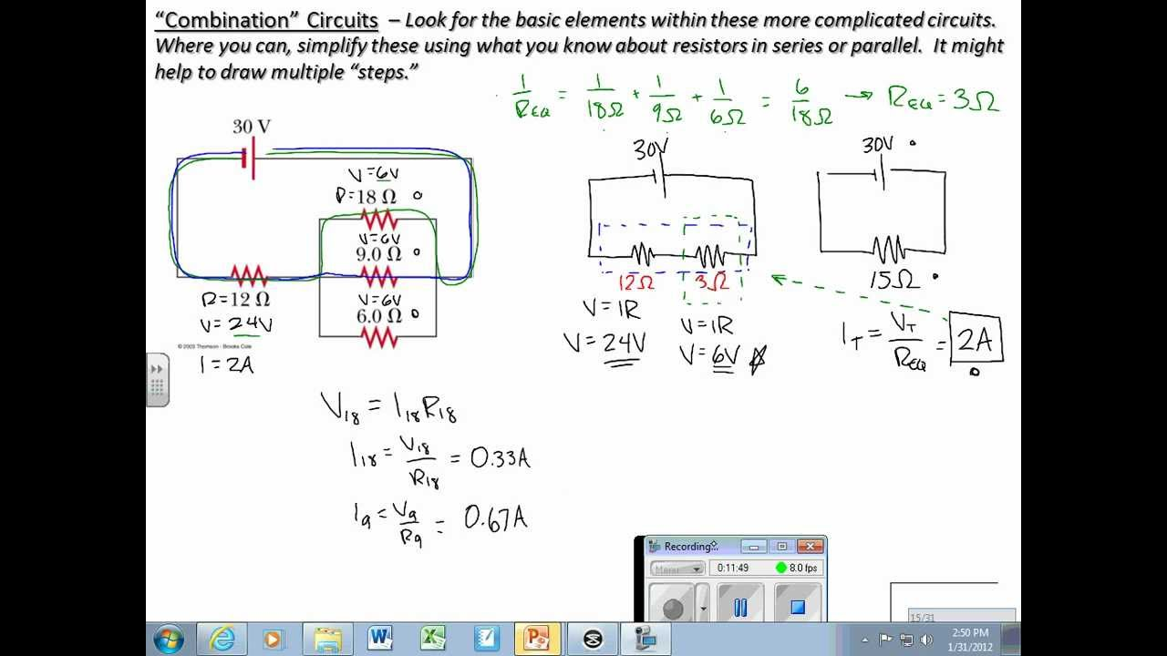 Series Parallel Combination Circuit Youtube Wiring Diagram And Resistors In A Seriesparallel Dc Circuits Rh Com Formula Examples