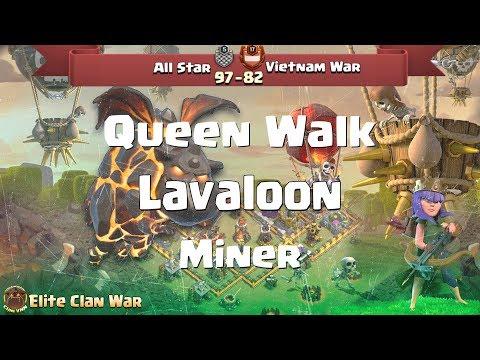 P2/2  | Queen Walk + Hogs, Miner, BowWitch |  3 Stars War TH11 | ClanVNN #399