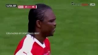 Nwankwo Kanu Hat trick   Arsenal Legends vs Milan Glorie