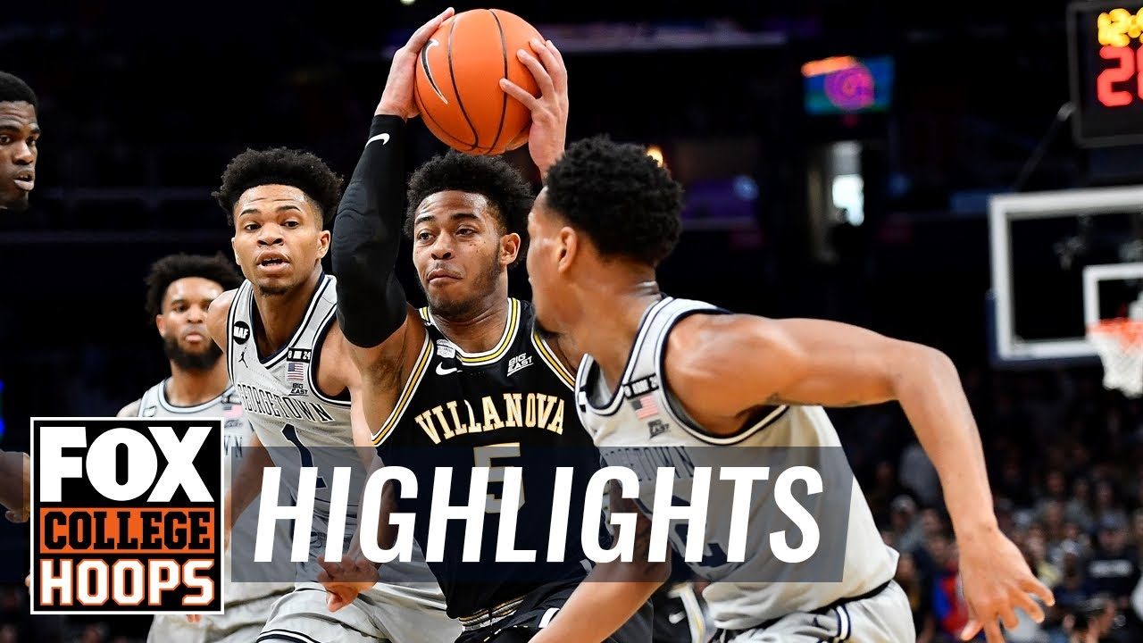 Villanova stuns Georgetown in final seconds, stays in Big East hunt | FOX COLLEGE HOOPS HIGHLIGHTS